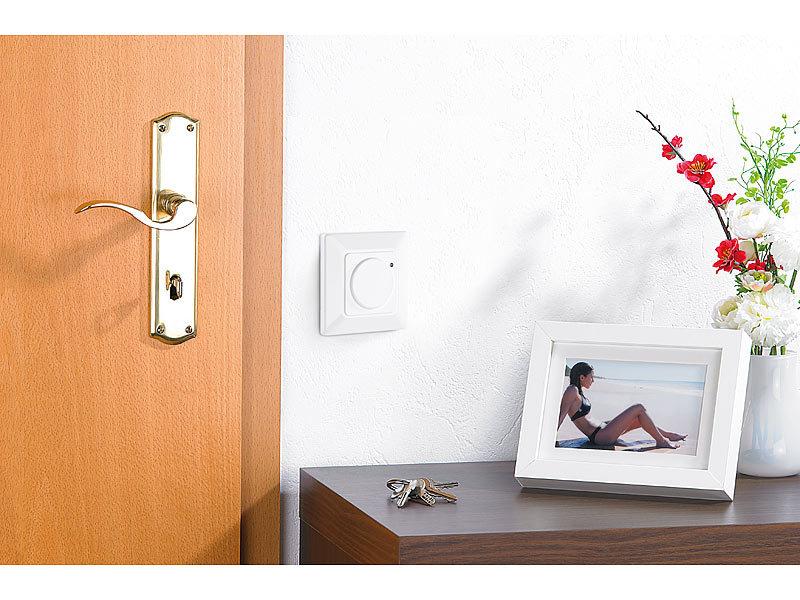 revolt bewegungssensor automatischer lichtschalter mit radar bewegungsmelder radarsensor. Black Bedroom Furniture Sets. Home Design Ideas