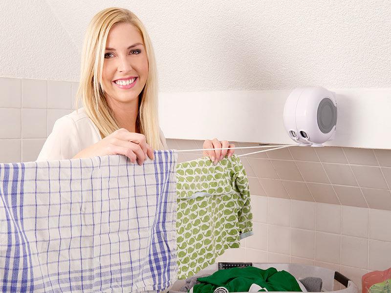 rosenstein & söhne jumbo-wandtrockner mit 2 ausziehbaren, Badezimmer