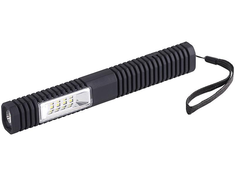 Lunartec werkstattleuchte in led taschenlampe tl cob led