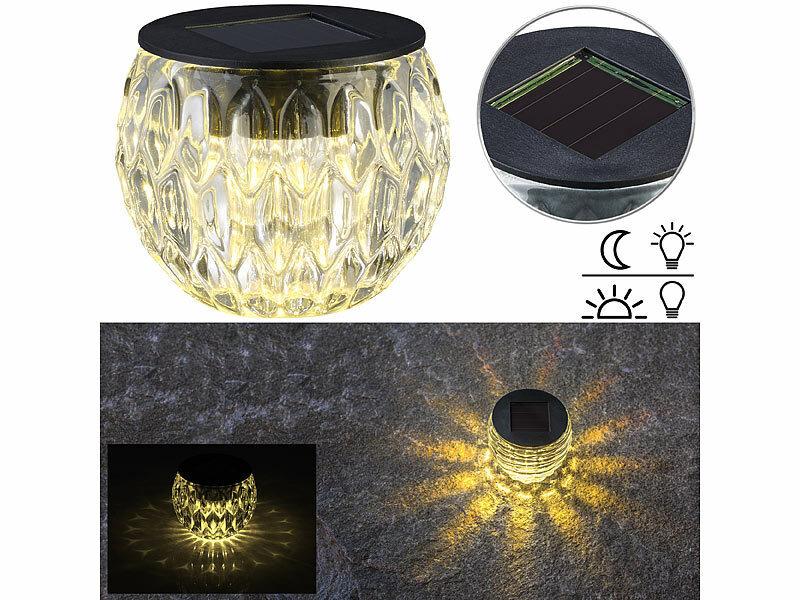 lunartec solar lampen ohne kabel solar led windlicht. Black Bedroom Furniture Sets. Home Design Ideas