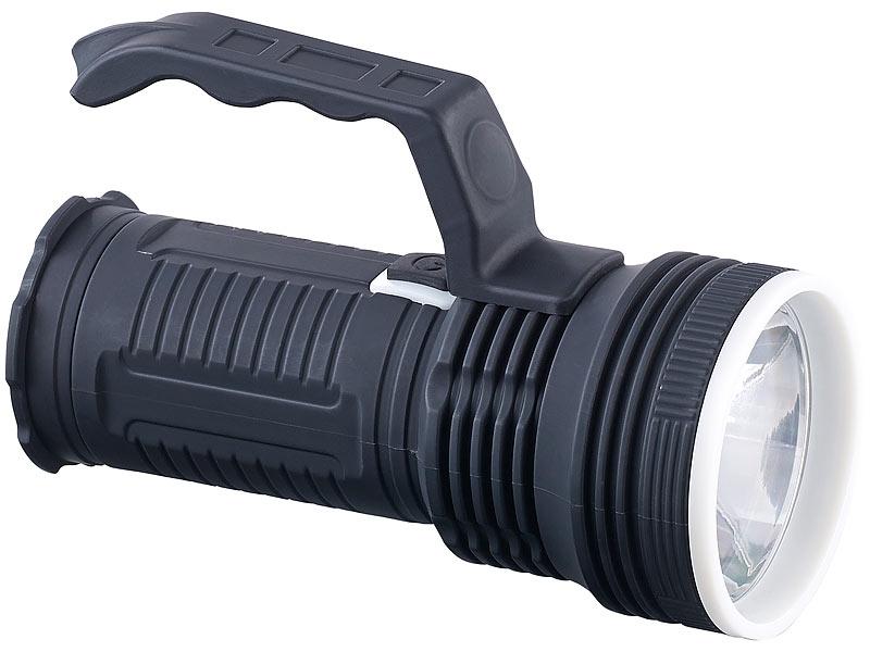 Lunartec hand lampen: spritzwassergeschützte cob led taschenlampe tl