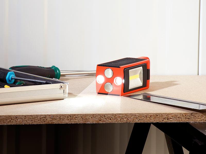 lunartec handleuchte arbeitsleuchte al 525 cob leds neodym magnet 3 modi 8w 325lm ip44. Black Bedroom Furniture Sets. Home Design Ideas