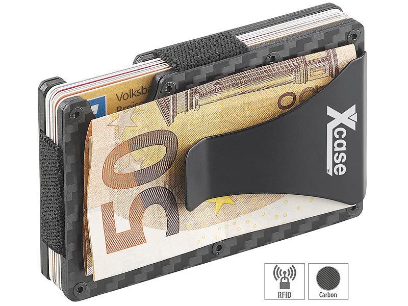 7fa54c73fccca Xcase Portemonnaie  RFID-Kartenetui aus Carbon