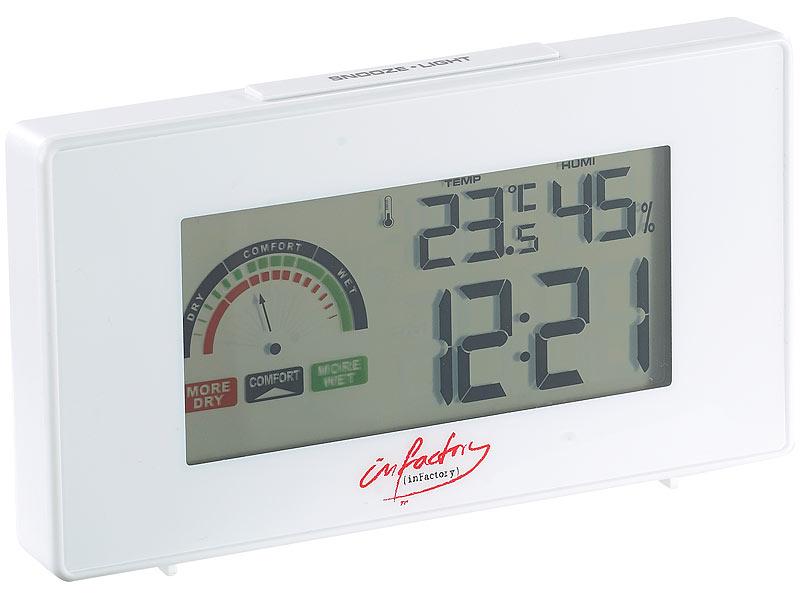 Digitaler Funkwecker mit Thermometer und Hygrometer