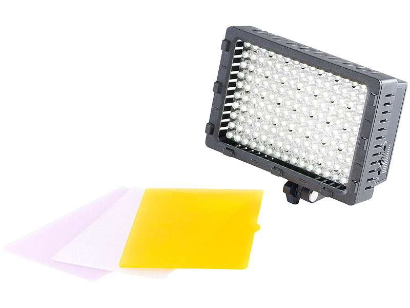 somikon foto leucht panel foto und videoleuchte mit 160 tageslicht leds 10 w 660 lm kamera. Black Bedroom Furniture Sets. Home Design Ideas