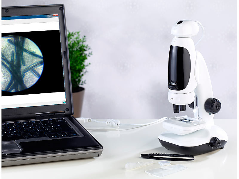 Somikon usb mikroskop kamera: digitales 3in1 mikroskop dm 300 1 3