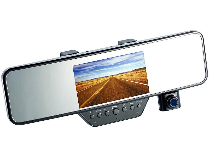 R/ückfahrkamera R/ückspiegel 11,4-cm-Display /& FSE Full-HD-R/ückspiegel-Dashcam mit R/ückfahr-Kamera NavGear R/ückfahrkamera Spiegel