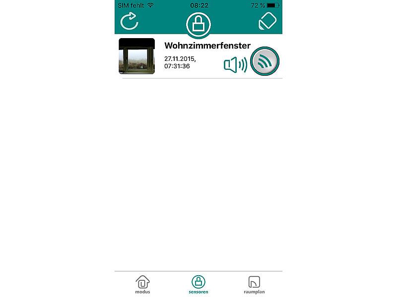 visortech wifi t r fensteralarm hss mit app f r android. Black Bedroom Furniture Sets. Home Design Ideas