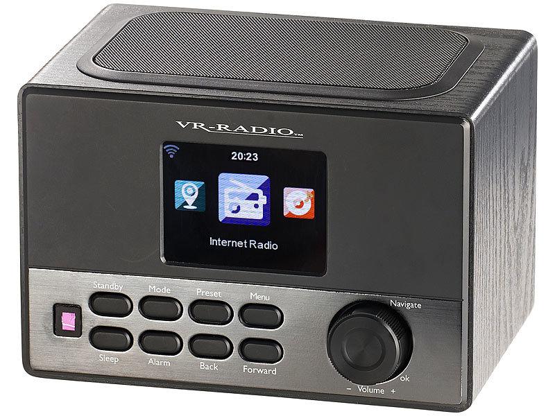 VR-Radio WLAN-Internetradio mit Wecker, USB-Ladestation, 8 Watt, 8,1 cm TFT VR-Radio Internetradios Wecker & USB Ladestationen Bild 1