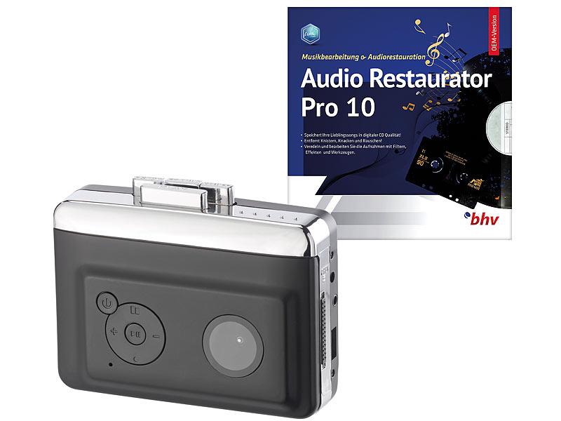 auvisio 2in1 kassetten player zum digitalisieren mit audio. Black Bedroom Furniture Sets. Home Design Ideas