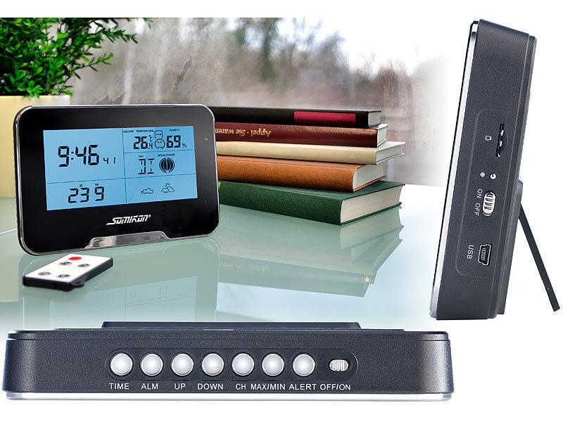 somikon kamera uhr full hd berwachungskamera mit wetterstation und bewegungserkennung. Black Bedroom Furniture Sets. Home Design Ideas