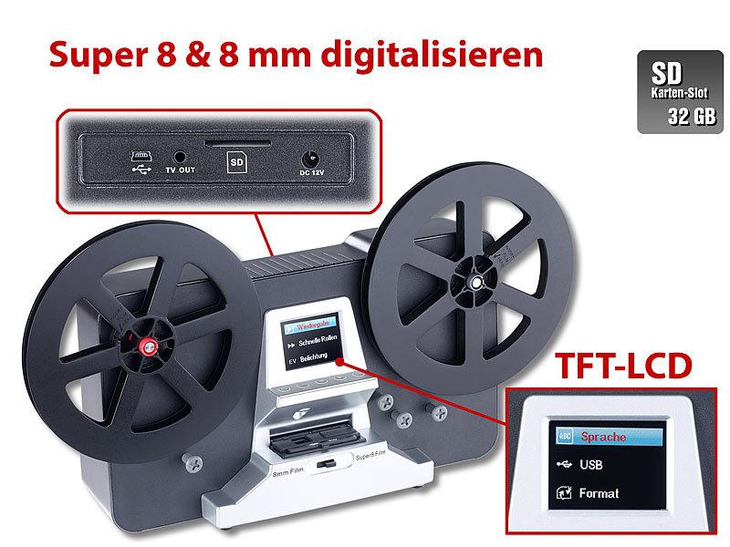 somikon hd xl film scanner digitalisierer f r super 8. Black Bedroom Furniture Sets. Home Design Ideas