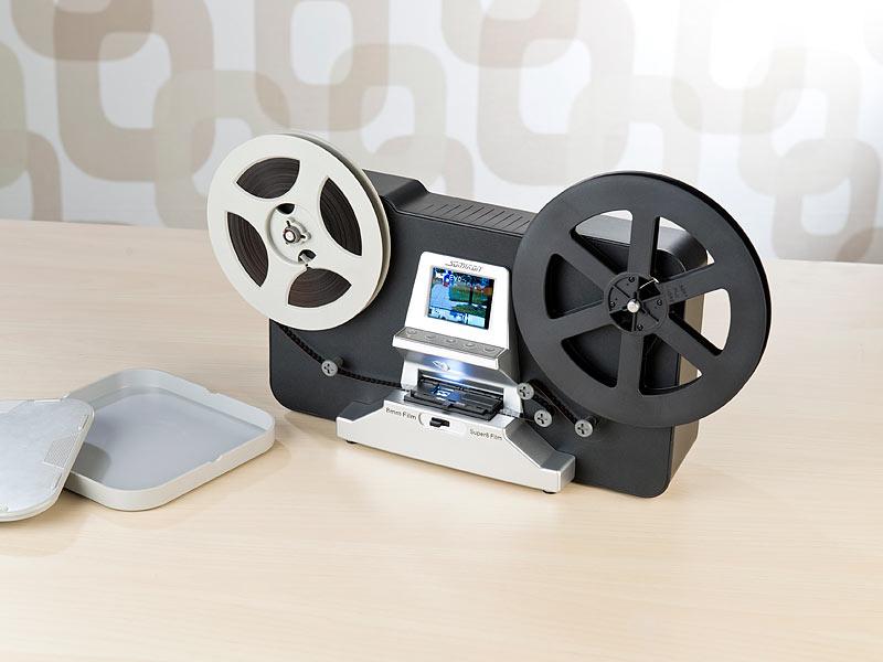somikon filmscanner hd xl film scanner digitalisierer f r super 8 und 8 mm stand alone. Black Bedroom Furniture Sets. Home Design Ideas