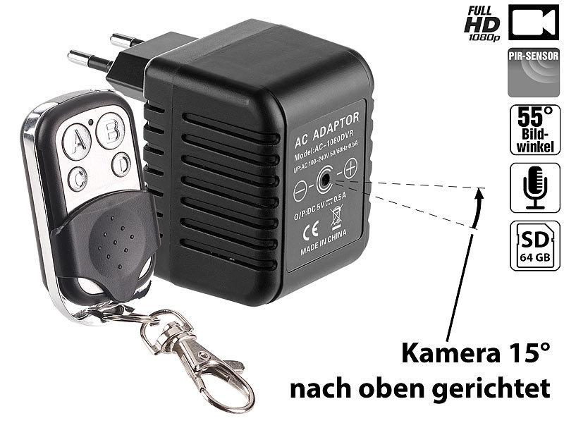 octacam minikamera usb netzteil mit integrierter full hd kamera und fernbedienung 500 ma usb. Black Bedroom Furniture Sets. Home Design Ideas