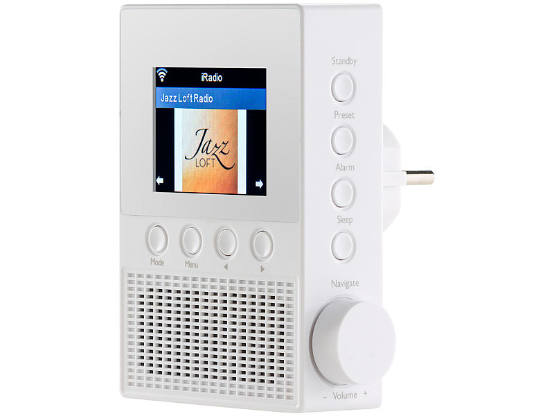 VR Radio Steckdosen Internetradio IRS 300 Mit WLAN, 6,1 Cm Display, 6 Watt