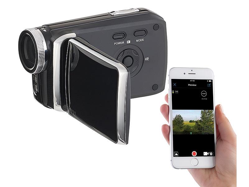 somikon digitalkamera full hd camcorder mit 7 6 cm touch display 3 wlan app steuerung. Black Bedroom Furniture Sets. Home Design Ideas