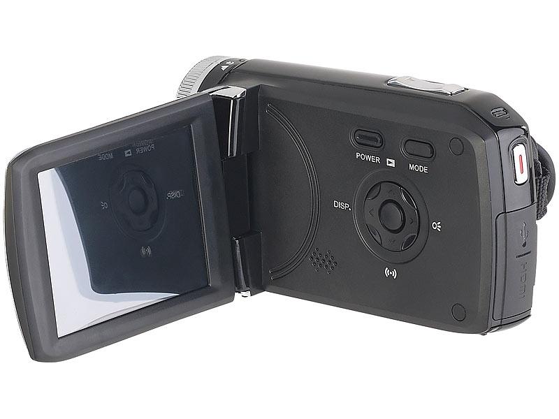 somikon videokamera full hd camcorder mit 7 6 cm touch display 3 wlan app steuerung. Black Bedroom Furniture Sets. Home Design Ideas