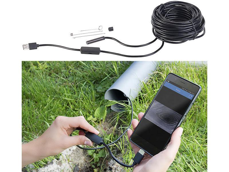 Somikon usb endoskopkameras: usb hd endoskop kamera für pc und otg