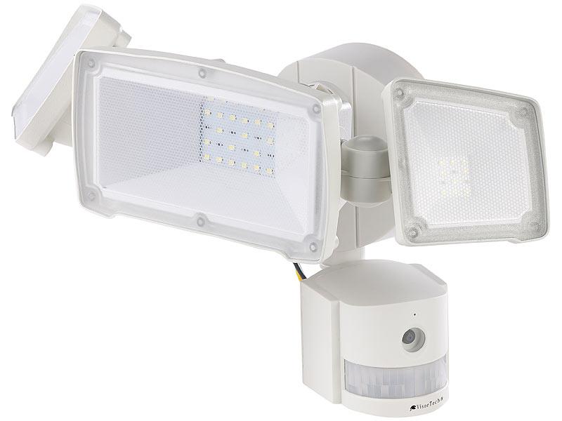 visortech led strahler kamera hd ip berwachungskamera m led strahler bewegungssensor sd. Black Bedroom Furniture Sets. Home Design Ideas