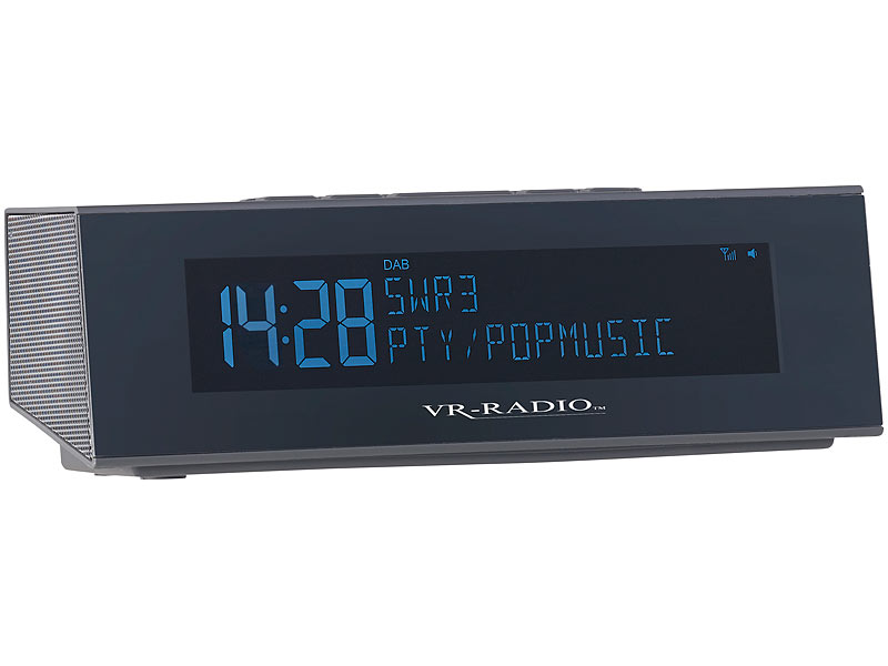 vr radio weckradio digitales dab fm stereo radio mit. Black Bedroom Furniture Sets. Home Design Ideas