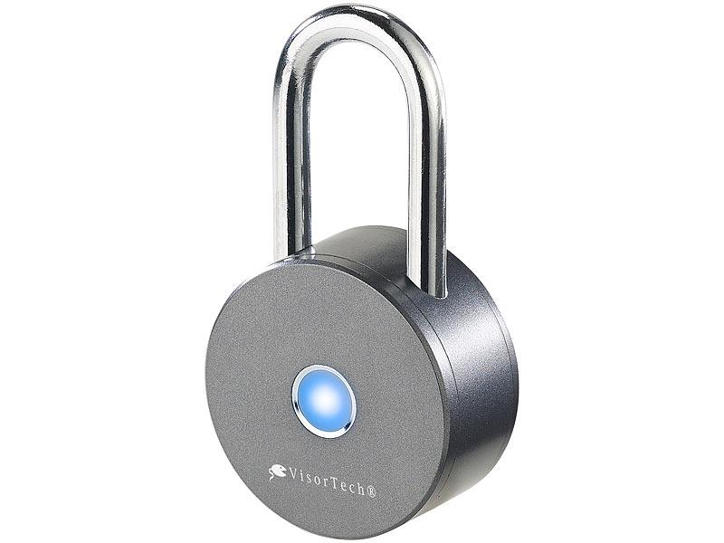 VisorTech Schloss: Schlüsselloses Vorhängeschloss V2, Bluetooth ...