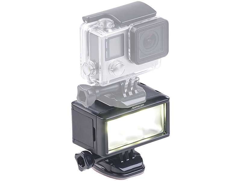 somikon kamera licht unterwasser led licht f r action. Black Bedroom Furniture Sets. Home Design Ideas