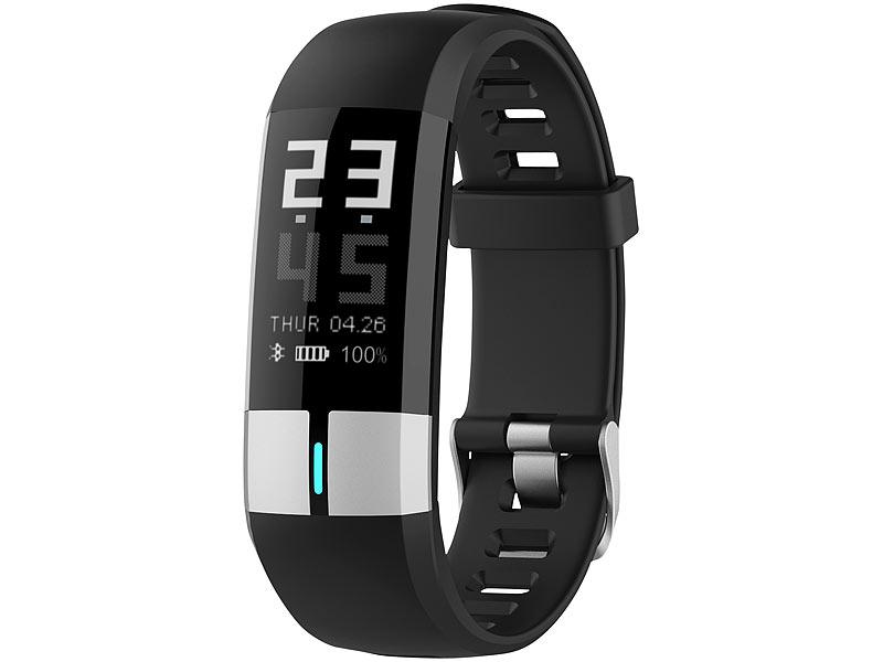newgen medicals Uhr mit Blutdruckanzeige: Fitness-Armband..