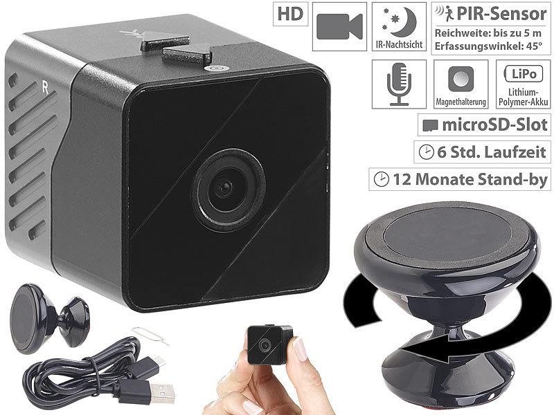 somikon spionagekamera mobile mini hd berwachungskamera. Black Bedroom Furniture Sets. Home Design Ideas