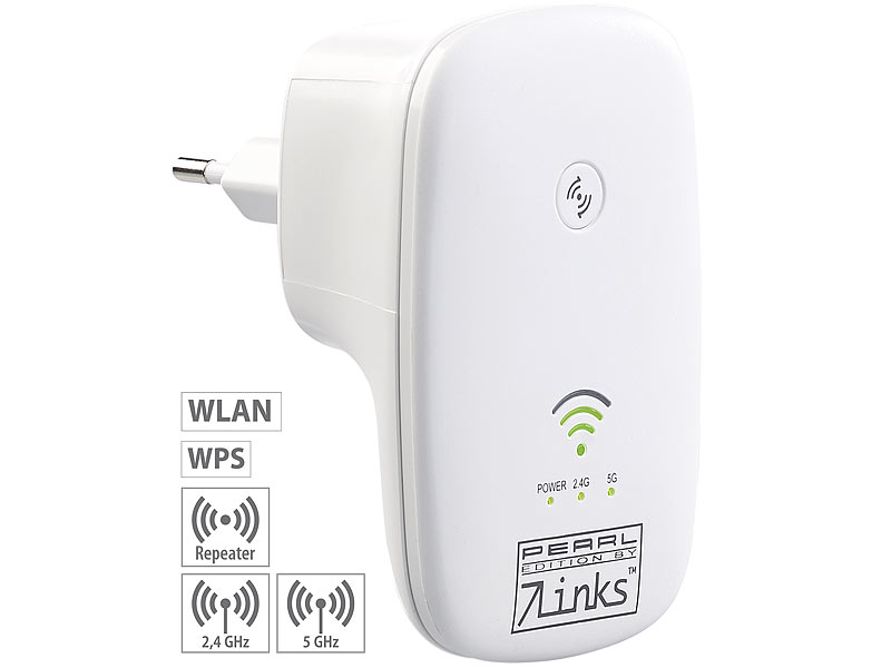 R�p�teur wifi Dual Band 750 Mb/s avec bouton WPS WLR-750.ac