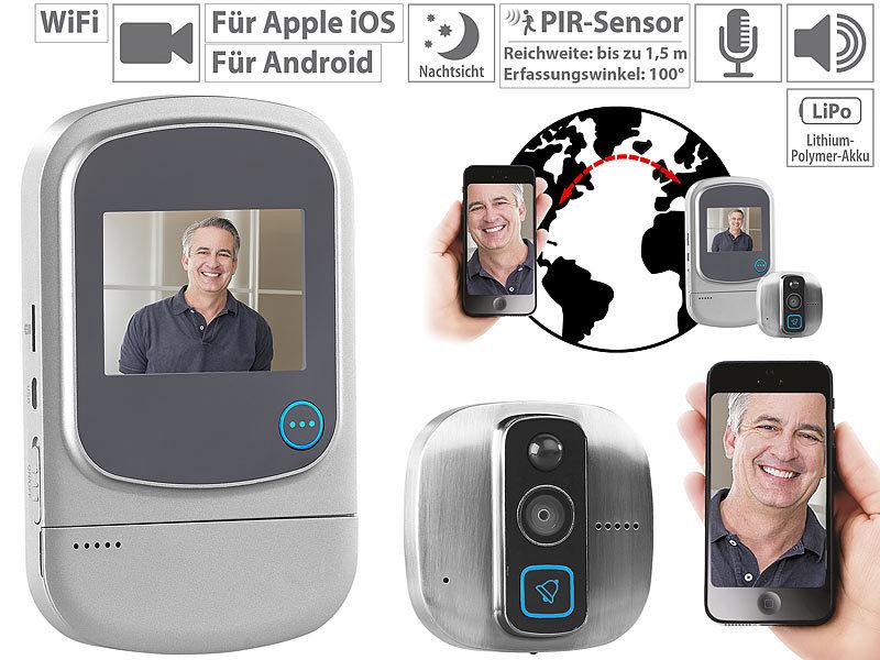 somikon t rspion kamera wlan digitaler hd t rspion mit klingel bewegungsmelder wifi und app. Black Bedroom Furniture Sets. Home Design Ideas