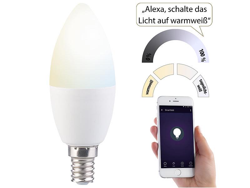 Lampen Wlan Steuerung : luminea alexa lichter wlan led lampe f r amazon alexa ~ Watch28wear.com Haus und Dekorationen