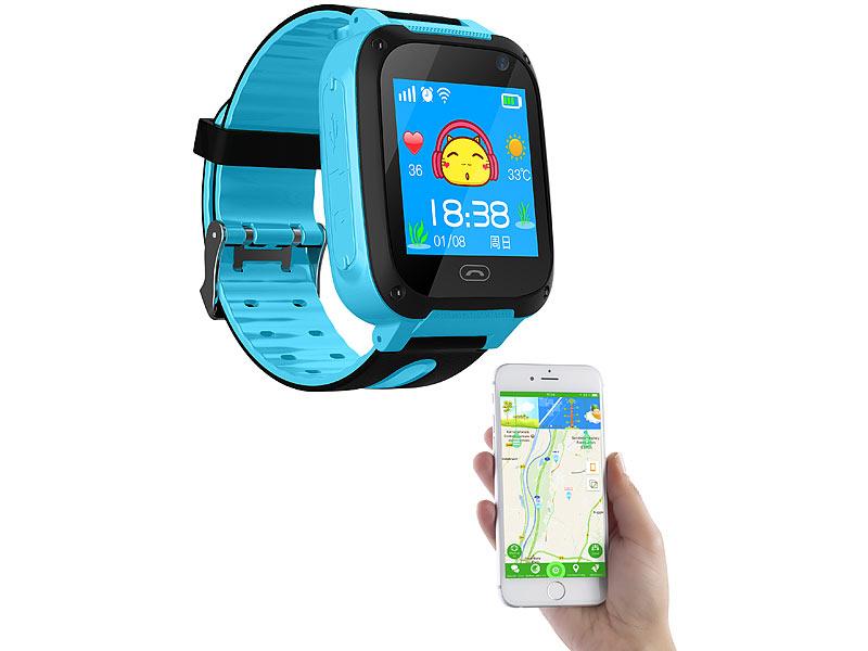 trackerid telefon uhr kinder smartwatch mit telefon gsm lbs tracking sos funktion blau. Black Bedroom Furniture Sets. Home Design Ideas