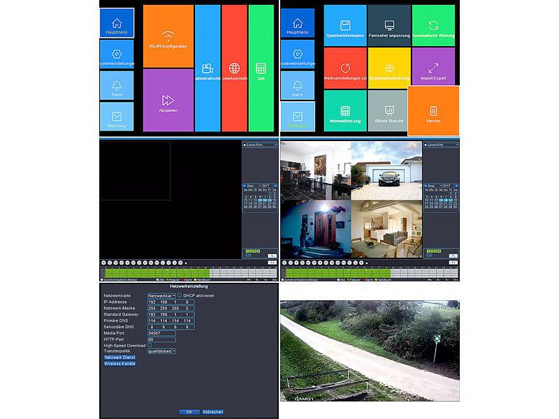 visortech berwachungskamera set funk berwachungssystem hdd recorder 8 ip kameras plug. Black Bedroom Furniture Sets. Home Design Ideas