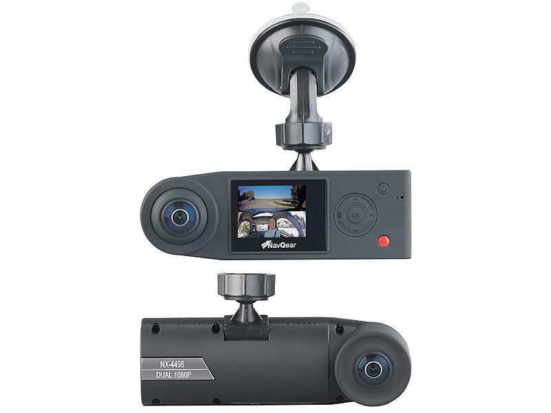 navgear auto kamera full hd dashcam mit 2 kameras f r 360. Black Bedroom Furniture Sets. Home Design Ideas