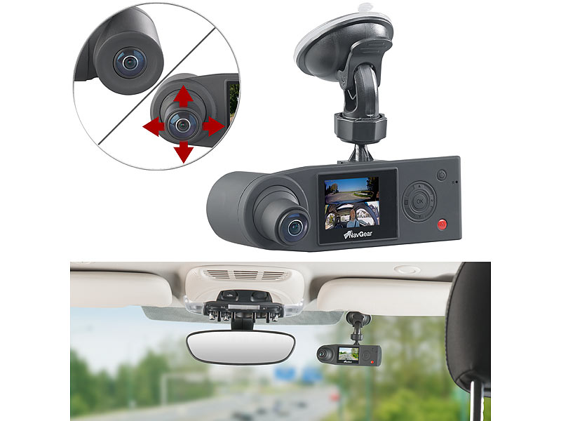 navgear dashcam 360 grad full hd dashcam mit 2 kameras. Black Bedroom Furniture Sets. Home Design Ideas