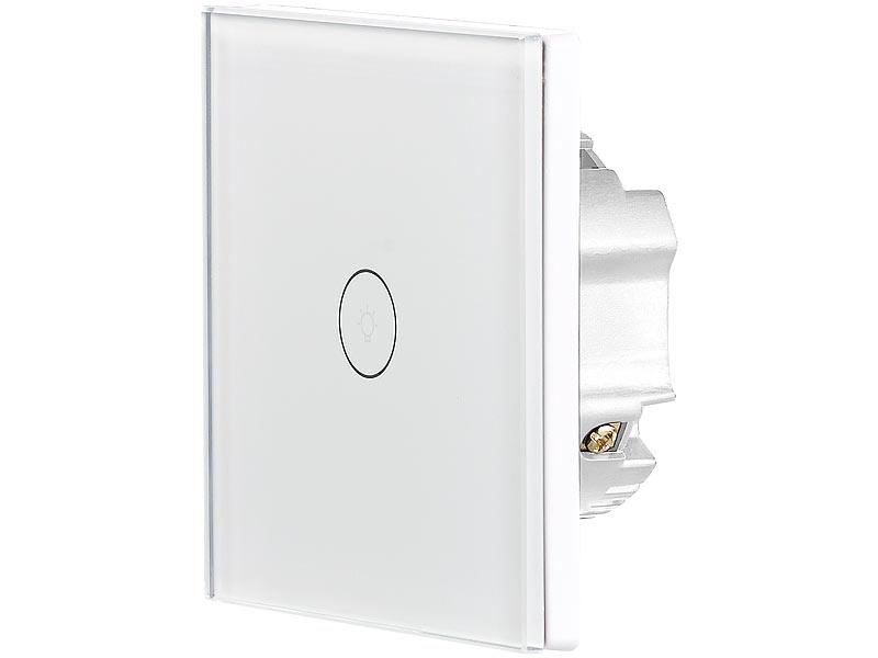 luminea home control wifi lichtschalter touch lichtschalter wlan kompat zu amazon alexa. Black Bedroom Furniture Sets. Home Design Ideas