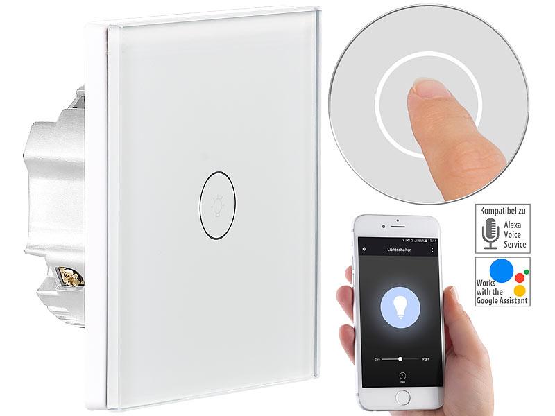Luminea Home Control Wifi Lichtschalter Touch Lichtschalter Wlan