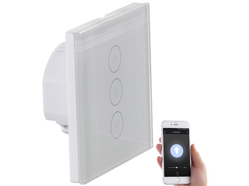 luminea home control wlan schalter touch lichtschalter dimmer komp zu amazon alexa google. Black Bedroom Furniture Sets. Home Design Ideas