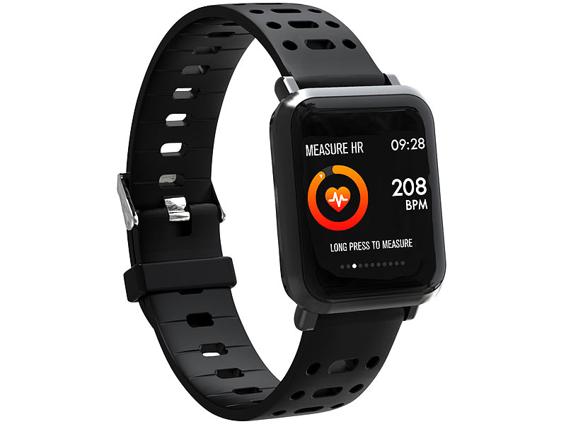 newgen medicals smartwatch fitness uhr mit blutdruck. Black Bedroom Furniture Sets. Home Design Ideas