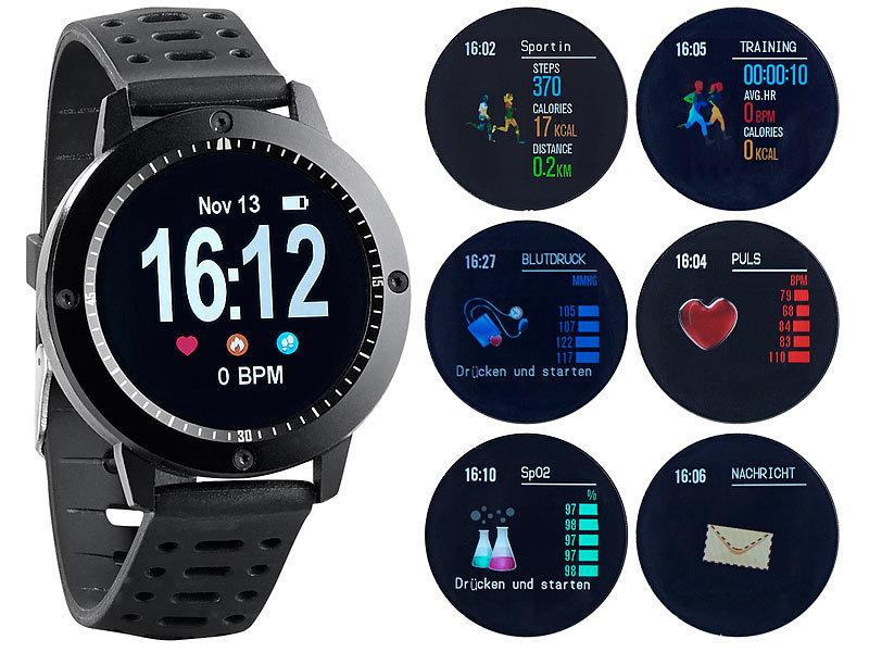 newgen medicals Fitness Armbanduhren: Fitness-Uhr, Touch