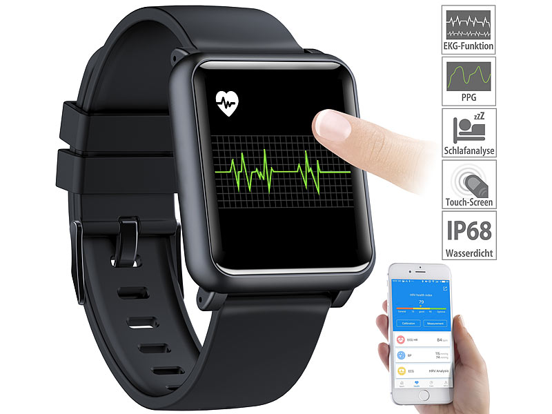 newgen medicals Fitnessuhr: Fitness-Uhr mit EKG..