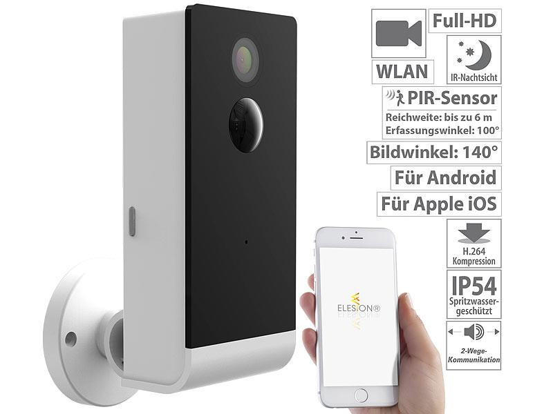 visortech berwachungscamera full hd ip berwachungskamera mit wlan app akku betrieb ip54. Black Bedroom Furniture Sets. Home Design Ideas