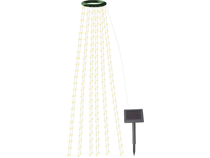 LED Balkon-Leuchtstäbe mit Tannenbaum Motiv