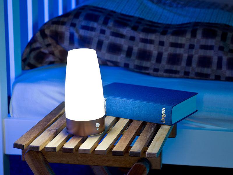 lunartec tischleuchte led tischlampe mit pir bewegungs sensor batterie betrieben warmwei. Black Bedroom Furniture Sets. Home Design Ideas