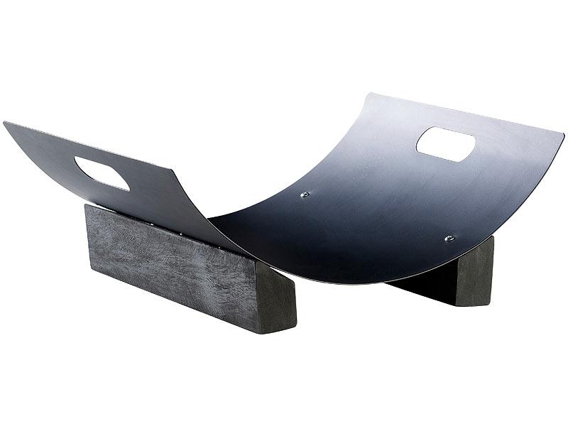 carlo milano metall holzkorb f r dekorative brennholz lagerung. Black Bedroom Furniture Sets. Home Design Ideas