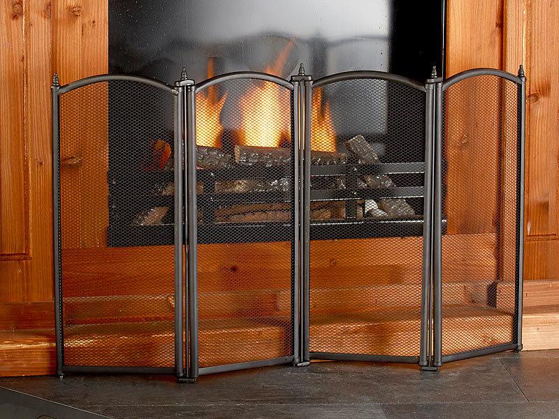 carlo milano funkenschutz funkenschutzgitter 4 teilig 85 x 50 cm kaminschutzgitter. Black Bedroom Furniture Sets. Home Design Ideas