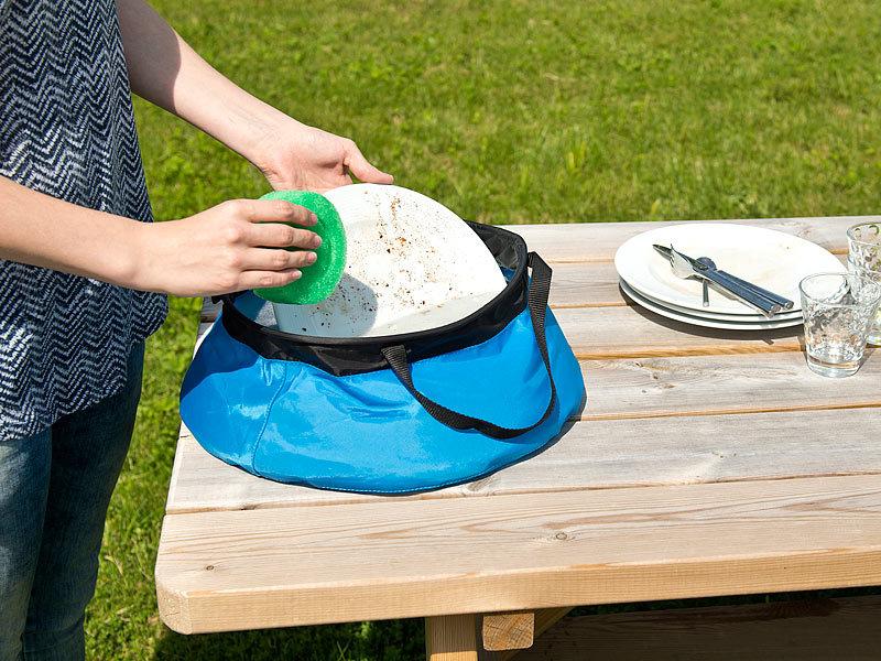 10L Falteimer Wassereimer Plastik Haushalts Camping Angeln Eimer Faltschüssel DE