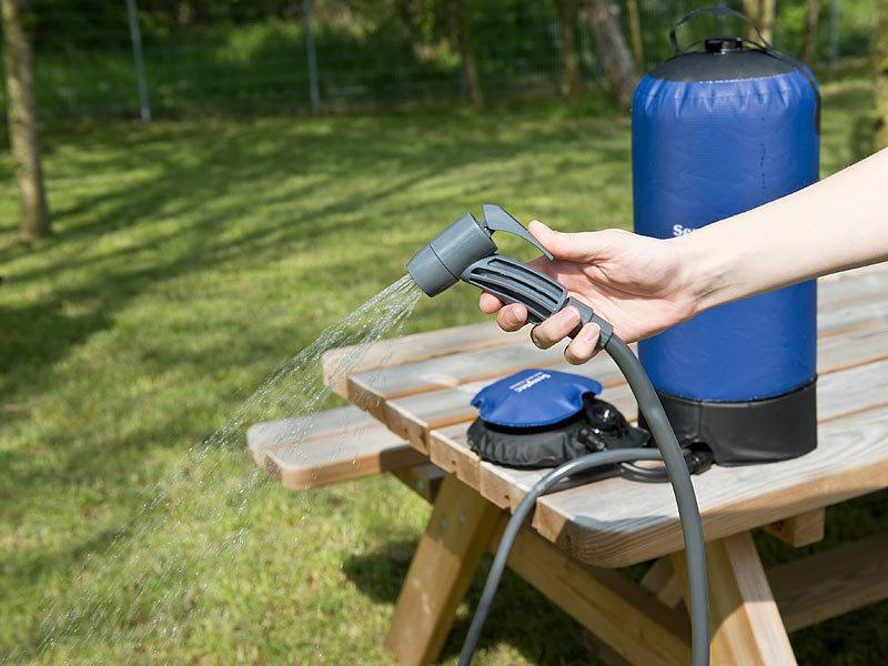 semptec solardusche tragbare druck campingdusche mit. Black Bedroom Furniture Sets. Home Design Ideas
