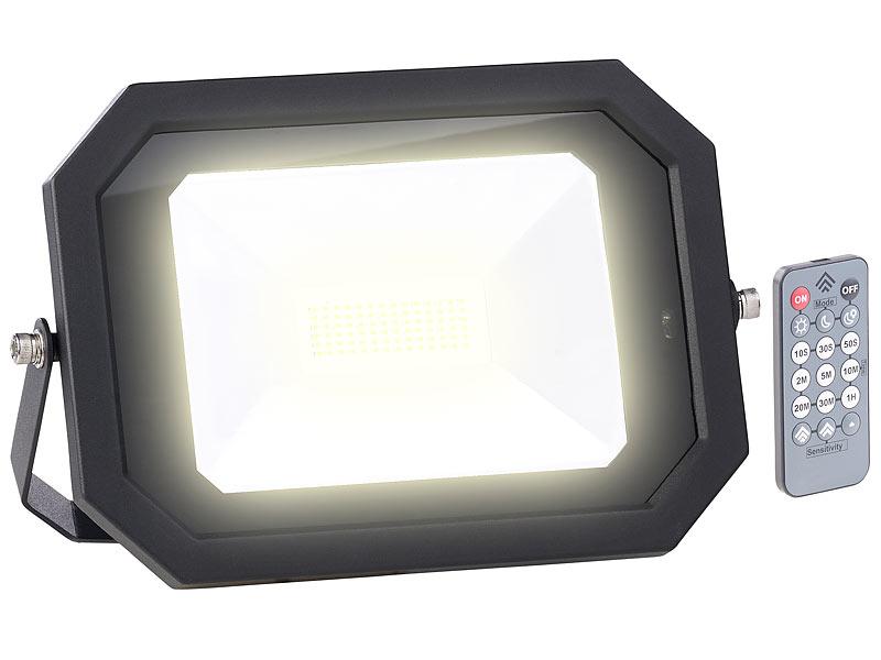 luminea garten beleuchtung wetterfester led fluter radar. Black Bedroom Furniture Sets. Home Design Ideas