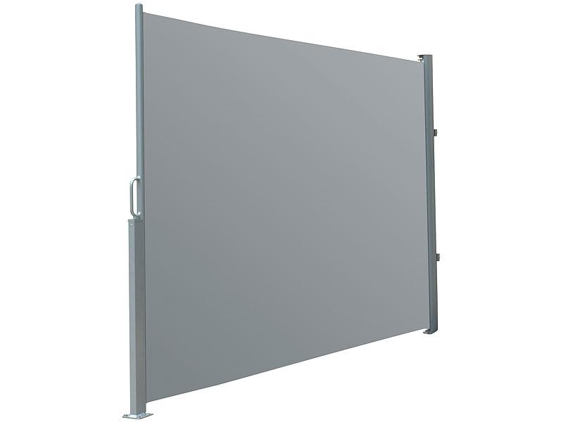 royal gardineer sichtschutz seitenmarkise 120 x 200 cm anthrazit vertikalmarkise. Black Bedroom Furniture Sets. Home Design Ideas